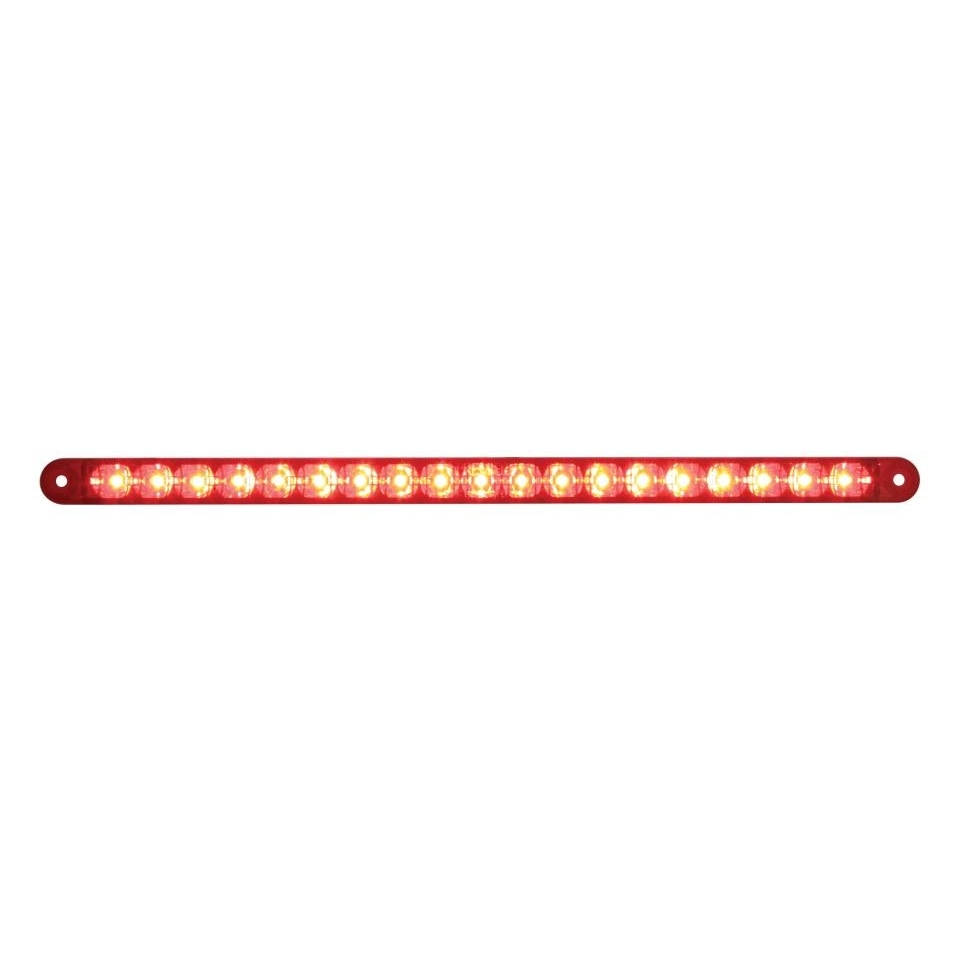 19 red led 12 s t t reflector light bar red lens 39774b quick view aloadofball Image collections