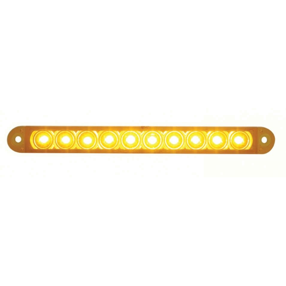 10 amber led 6 1 2 p t c flush mount light bar amber lens 39684b quick view mozeypictures Image collections