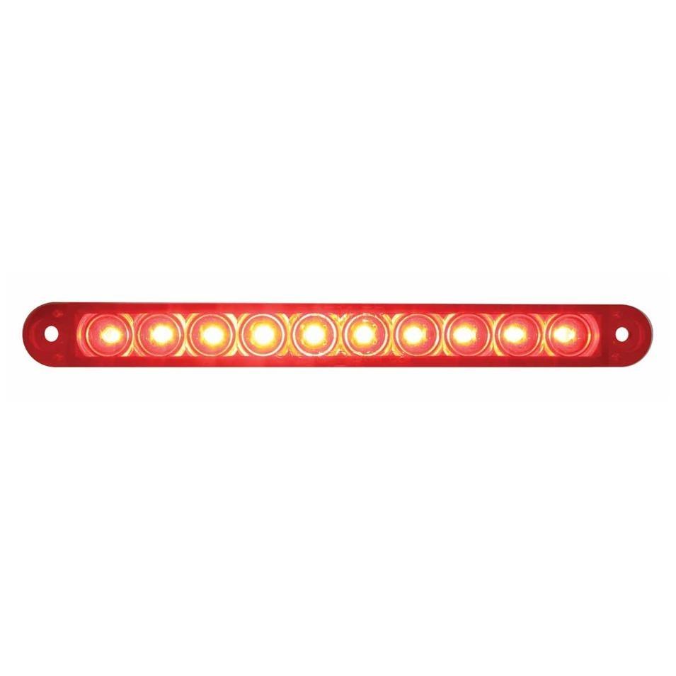 10 red led 6 1 2 s t t flush mount light bar red lens 39685b quick view aloadofball Choice Image