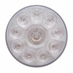 10 Red Led 4 Round S-T-T Light-Clear Lens 38772